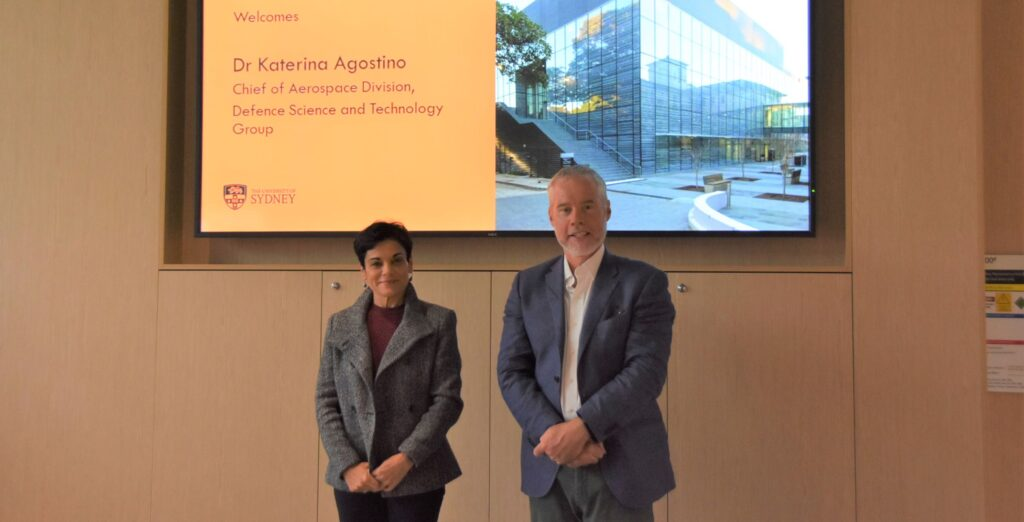 Prof. Benjamin Eggleton hosts Dr Katerina Agostino, Chief of Aerospace Division, Defence Science & Technology Group